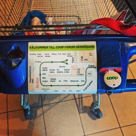Карта на тележке в шведском супермаркете