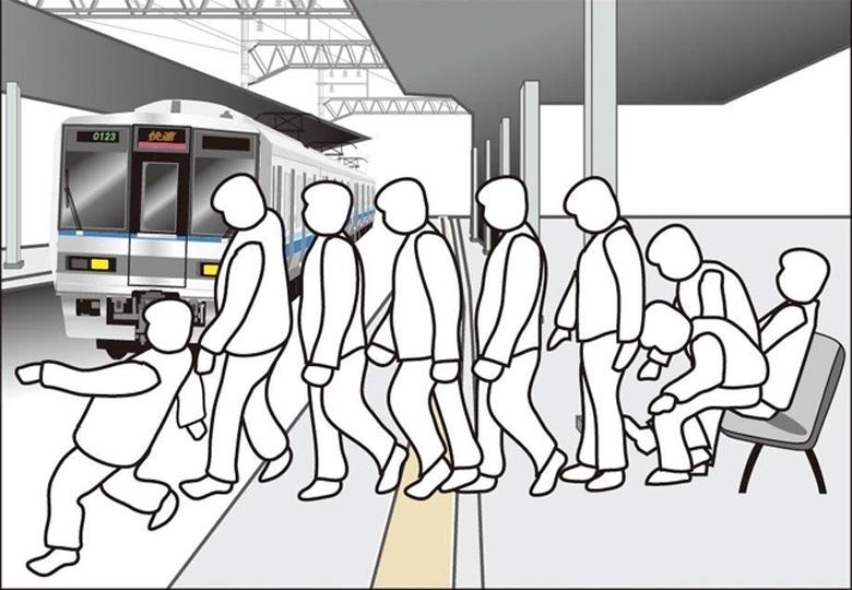Простое решение для предотвращения падений пьяных в метро