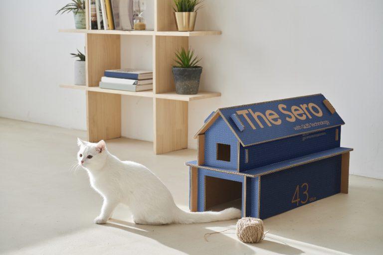 Eco Packaging for Lifestyle TV Lineup 1 2 768x512 1 - Дом для кошки из коробки для телевизора